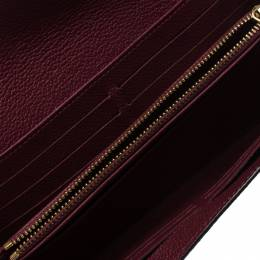 Louis Vuitton Maroon Monogram Empreinte Leather Sarah Wallet 265041