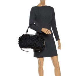 Coach Black Signature Fabric Top Handle Bag 264640
