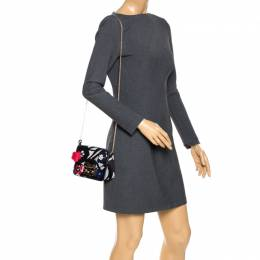 Furla Black Leather Mini Limited Edition Metropolis Crossbody Bag 264387