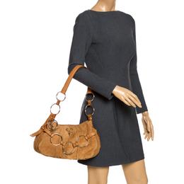 Saint Laurent Paris Tan Nubuck Shoulder Bag