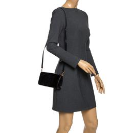Tory Burch Black Patent Leather Flap Crossbody Bag 264833