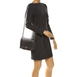 Chanel Grey Quilted Leather Medium Boy Flap Bag