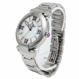 Chopard New White Mother Of Pearl Imperiale Stainless Steel Watch 40MM 261219