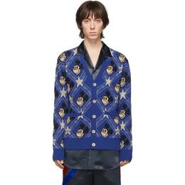 Gucci Blue Wool Disney Edition Cardigan 601565 XKA57