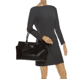 Coach Black Leather Chelsea Caryall Bag 262653
