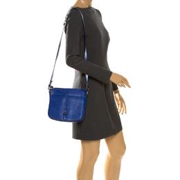 Furla Electric Blue Leather Messenger Bag 261270