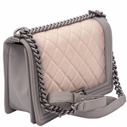 Chanel Ombre Boy Quilted Flap Bag Medium Size