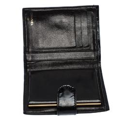 Chanel Black Patent Vintage CC Compact Wallet