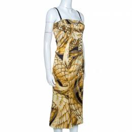 Just Cavalli Multicolor Animal Print Textured Sleeveless Dress M 261663