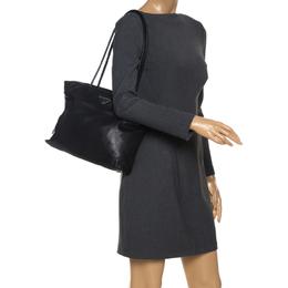 Prada Black Leather Shoulder Bag 263495