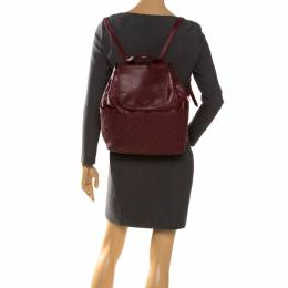 Tory Burch Burgundy Leather Talor Backpack