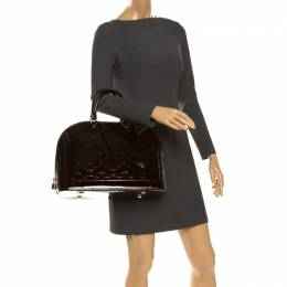 Louis Vuitton Amarante Monogram Vernis Alma GM Bag 261295