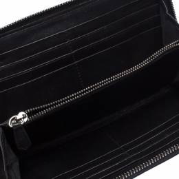 Valentino Black Patent Leather Bow Continental Zip Around Wallet 263670