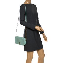 Tory Burch Lime Green Leather Robinson Crossbody Bag 263850