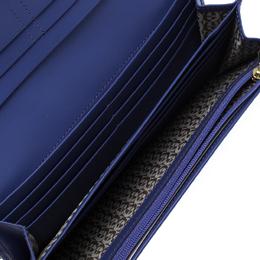 Aigner Purple Croc Embossed Continental Wallet 263666