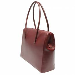 Cartier Red Leather Must Line Shoulder Bag 263543