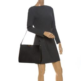 Stella McCartney Black Leather Round Zip Shoulder Bag 261615