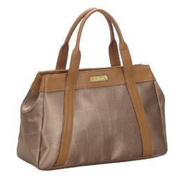 Chloe Bronze Canvas Leather Shoulder Bag