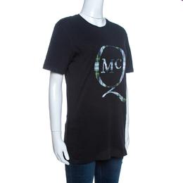 MCQ by Alexander McQueen Black Logo Patch Detail T-Shirt XS 261761