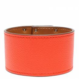 Hermes Orange Leather Bracelet 263731
