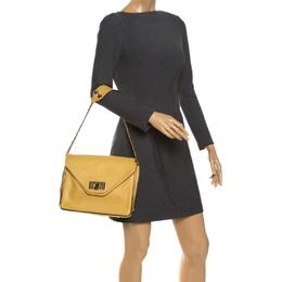 Chloe Yellow Leather Medium Sally Shoulder Bag