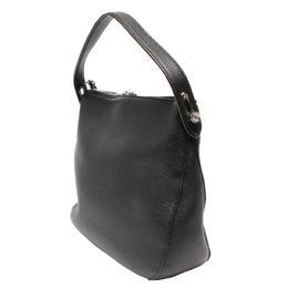 Bally Black Leather Shoulder Bag 263569