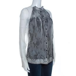 Stella McCartney White Silk Lace Front Detail Blouse S 262165