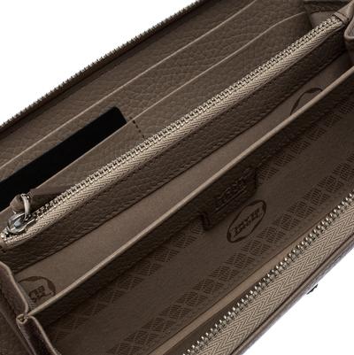 Montblanc Beige Leather Meisterstuck Zip Around Wallet 263395 - 1