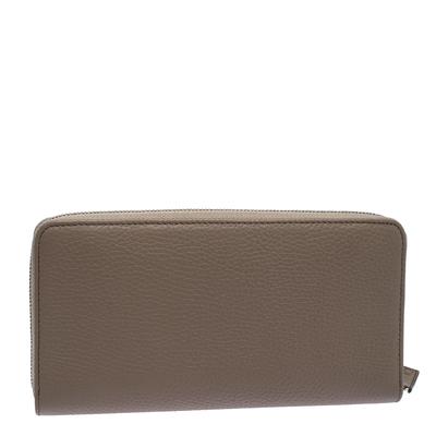 Montblanc Beige Leather Meisterstuck Zip Around Wallet 263395 - 3