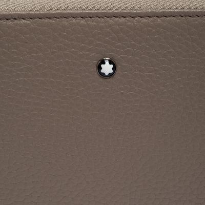 Montblanc Beige Leather Meisterstuck Zip Around Wallet 263395 - 4
