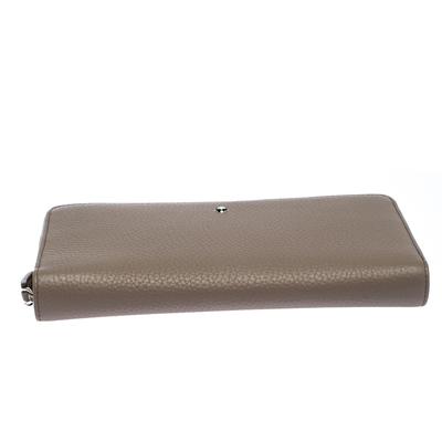 Montblanc Beige Leather Meisterstuck Zip Around Wallet 263395 - 5