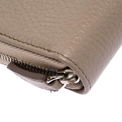 Montblanc Beige Leather Meisterstuck Zip Around Wallet 263395 - 8