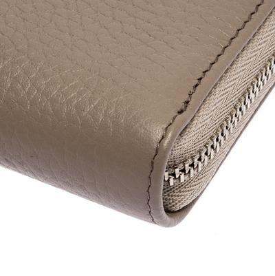 Montblanc Beige Leather Meisterstuck Zip Around Wallet 263395 - 9