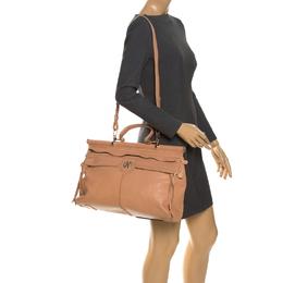 Roberto Cavalli Nude Leather Top Handle Bag 261711