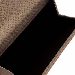 Carolina Herrera Beige Monogram Embossed Leather French Flap Wallet 261177