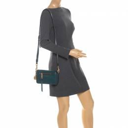 Marc Jacobs Petroleum Green Leather Recruit Crossbody Bag