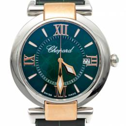 Chopard Green Imperiale Stainless Steel & Rose Gold Women'S Watch 36MM 259618