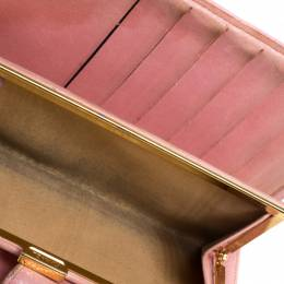 Chanel Pink Leather CC Long French Wallet 260988