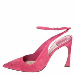 Dior Pink Suede Pointed Toe Ankle Strap Sandals Size 40 260500