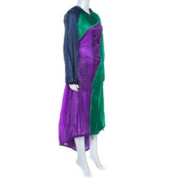 Versace Multicolor Nylon Long Raincoat S 260657
