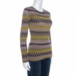 M Missoni Multicolor Knit Long Sleeve Sweater M 260898