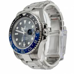 Rolex GMT Master Ii 'Batman' Black & Blue Bezel Stainless Steel Men's Watch 40MM