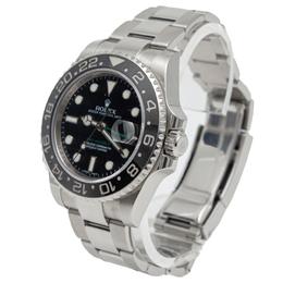 Rolex GMT Master Ii Black Dial & Bezel Stainless Steel Men's Watch 40MM