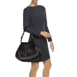 Marni Dark Grey Soft Leather Frame Flap Shoulder Bag 259071