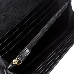 Givenchy Black Signature Canvas Buckle Flap Wallet 260314