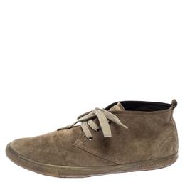 Prada Sport Beige Suede Desert Lace Up Boots Size 43.5 260418