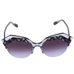 Bvlgari Black/Grey Gradient 8203 Serpenteyes Round Sunglasses 258875