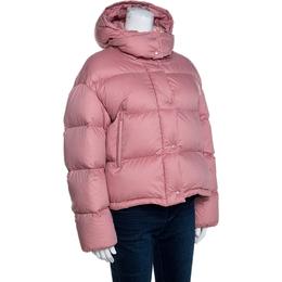 Moncler Pink Cotton Goose Down Paeonia Puffer Jacket M 258912