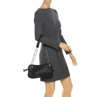 Montblanc Black Leather Starisma Alcina Shoulder Bag 258682 - 1