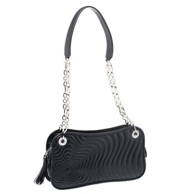 Montblanc Black Leather Starisma Alcina Shoulder Bag 258682 - 2
